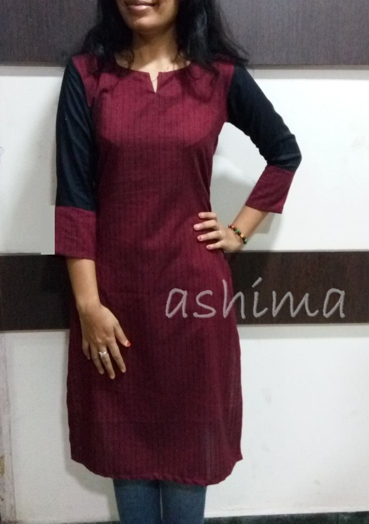 Code:2502160- Woven Cotton Kurta- Price INR:890/-