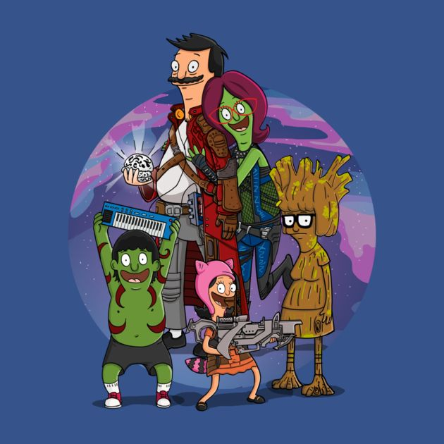 Guardians of the Burger Guardians of the Galaxy & Bob's Burgers mash-up By Richard Garcia You can get this on a t-shirt here.