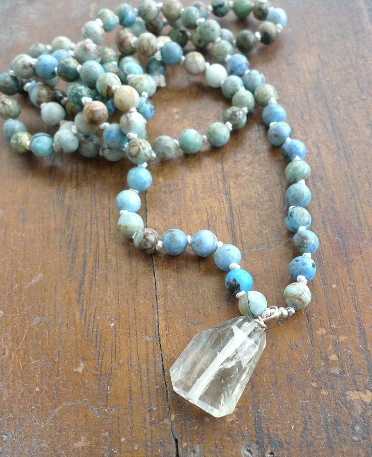 Blue Opal mala Spirit of Nature Mala NEW!