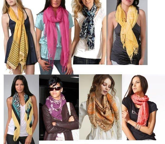 Способы завязывания шарфа на плащ