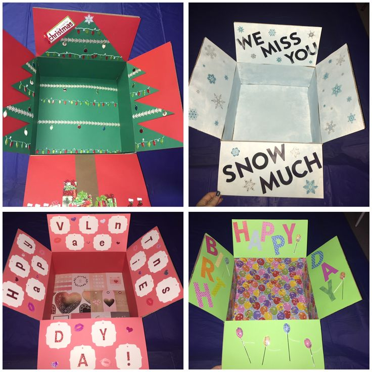 Themed deployment boxes!! December, January, February and birthday care packages for military!