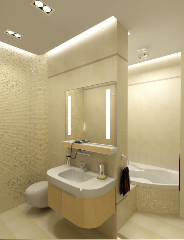 Туалет в цветах: светло-серый, белый, бежевый. Туалет в стиле арт-деко.