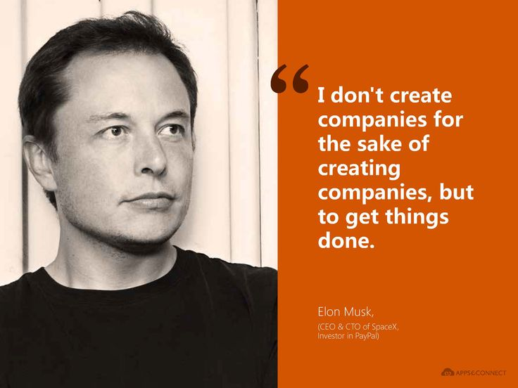 #Quote from #ElonMusk, Investor in #Paypal