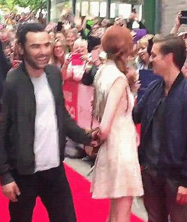 Aidan, Eleanor and Jack + holding hands….