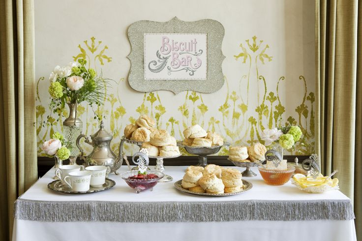 Down Home Biscuit Bar!Biscuits Bar, Brunches, S'More Bar, S'Mores Bar, Food Stations, Shower, Parties Ideas, Southern Wedding, Food Bar