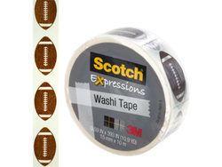 Scotch Expressions Footballs Washi Tape ( Case of 48 ) U975-OP769-48
