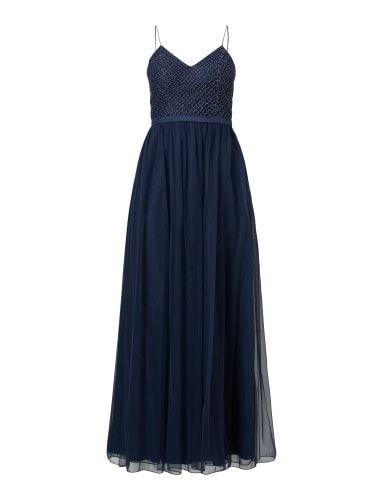 LAONA Abendkleid aus Mesh mit Zierperlenbesatz in Blau / Türkis online kaufen (9623087) | P&C Online Shop