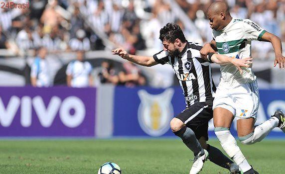 Jogo com 2 pênaltis: Botafogo e Coritiba empatam em 2 a 2
