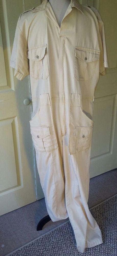 Wall's VTG Men's Mechanic Coveralls Jumpsuit One Pc~Sz 42 44~Khaki Beige Brown   Clothing, Shoes & Accessories, Vintage, Men's Vintage Clothing   eBay!