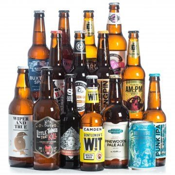 Our Great British Beers Gift Box of 15 of the finest British beers includes beers from Scotland, Yorkshire, Lancashire, Cornwall & Wales. Buy online