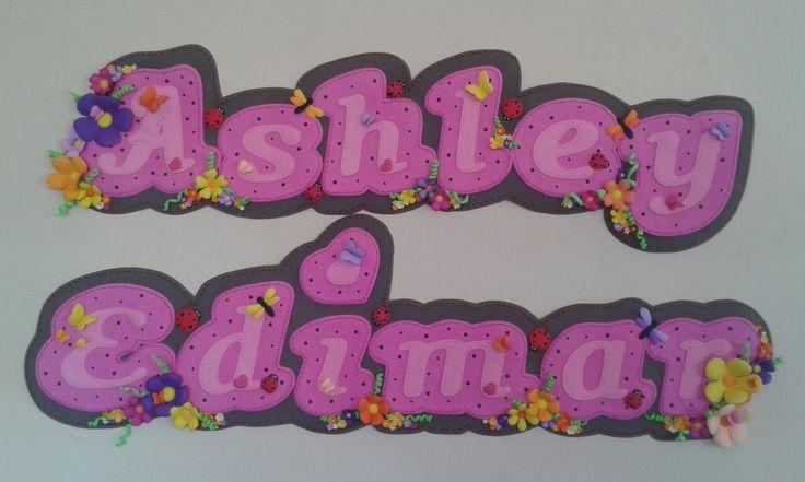 Letras decoradas personalizadas para ocasiones especiales de Bienvenida, baby shower y más!