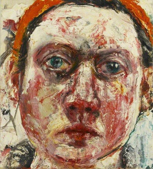 Stare  by Shani Rhys-James  Arts Council Collection        Date painted: 1997      Oil on gesso on board, 30 x 27.6 cm