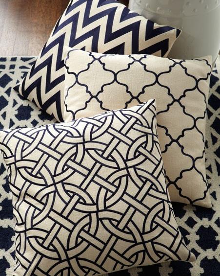 Cute black and white pillows