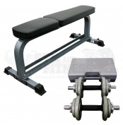 Force USA Flat Bench & Magnum Adjustable Dumbbell Set 20kg  This package includes the following items:  - Force USA Flat Bench w/ Dumbbell Rack - Magnum Fitness Adjustable Dumbbell Set - 20kg  The Force USA Flat Bench (F-FB) is heavy duty and sturdy to give you a solid workout!   For more info visit: http://www.gymandfitness.com.au/force-usa-flat-bench-magnum-adjustable-dumbbell-set-20kg.html