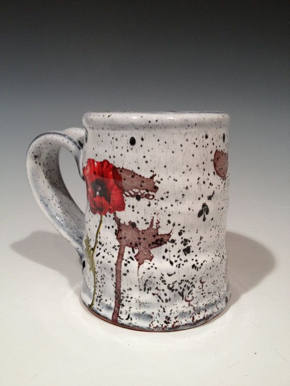 Poppy Mug with layered glaze by rothshank on Etsy, $50.00 (omg his stuff is gorgeous)