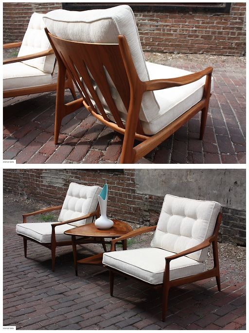 <3 Rare 1950s Milo Baughman Lounge Chairs | Manufactured by Thayer Coggin