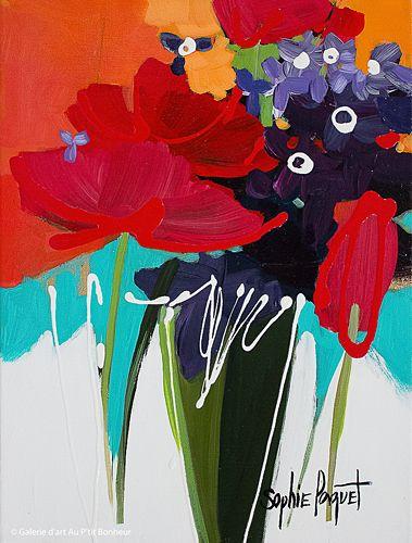 Sophie Paquet, 'Romance Tulips', 12'' x 16'' | Galerie d'art - Au P'tit Bonheur - Art Gallery
