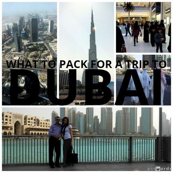Packing tips for a trip to Dubai, UAE. #travel #packingtips #Dubai