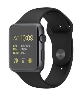 Premium but affordable Apple wrist watch:  Apple Watch Sport 42mm Space Grey Aluminium Case with Black Sport Band  http://store.apple.com/xc/product/MJ3T2B/A