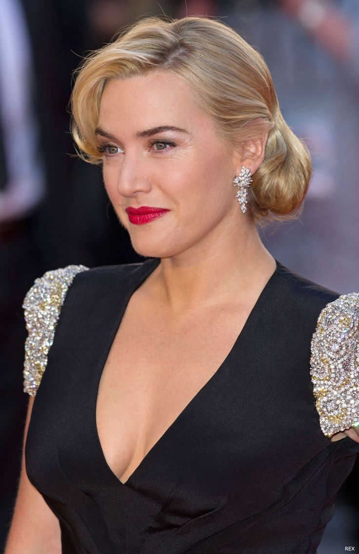 Kate Winslet with 40's vintage-style hair at the Titanic 3D Premiere
