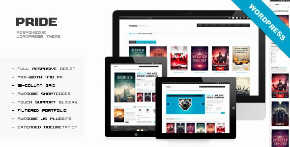 Download PRIDE - Themeforest Responsive WordPress Theme - Wordpress :: Themeforest