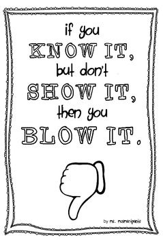 """""""Know It, Show It, or Blow It"""""""