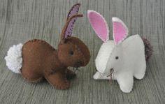 Felt Bunny - free tutorial by  Creativity in Pieces