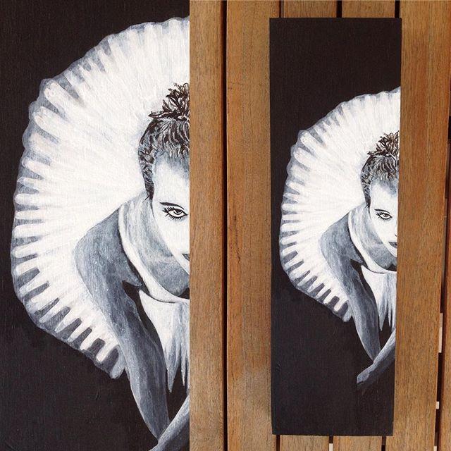 #black #white #ballerina #ballet #dance #tutu #dancer #painting #art #acrylics #resim #woodart #woodpainting #siyah beyaz  #balerin #akrilik #sanat #dekor #dekoratif #dekorasyon #duvar #tablo #N4Joy