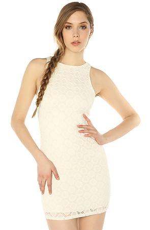 The Daisy Dash Lace Mini Dress in Ivory S|M|L