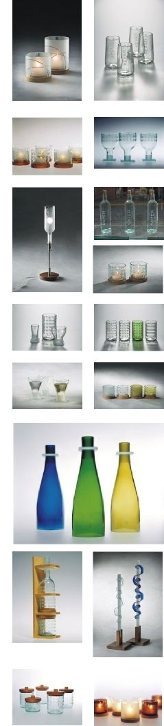 EVOLUM, no melting, just cutting recycled glass!