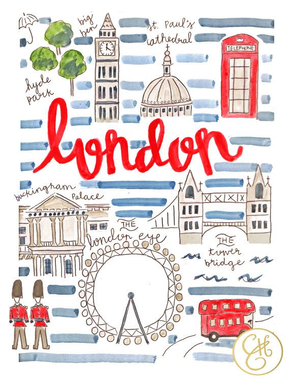 London Map Print 8.5 x 11 by EvelynHenson on Etsy