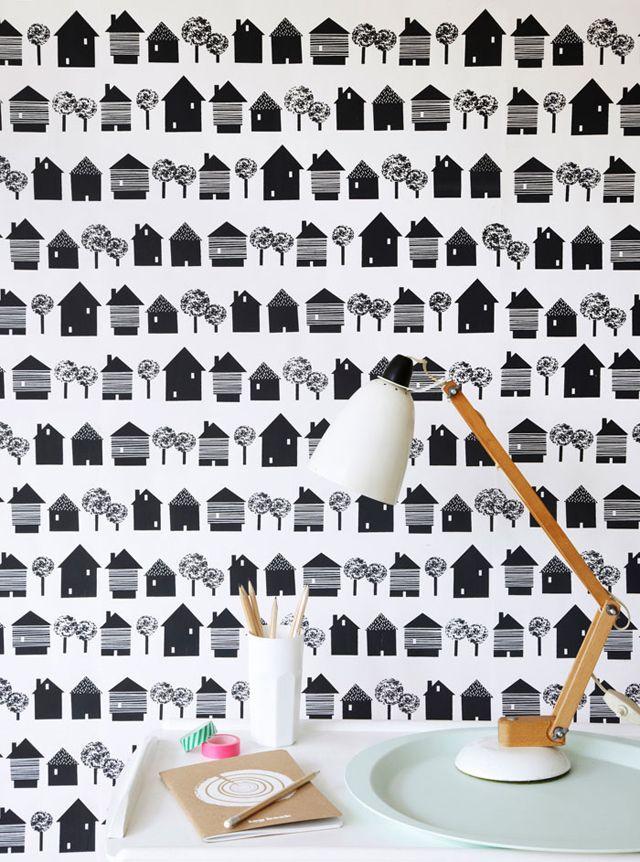 Smalltown #wallpaper  #kidsroom