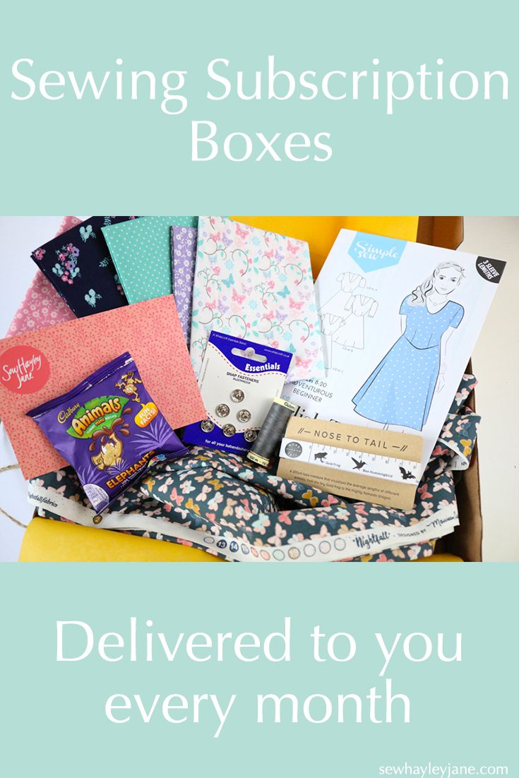 Every month you can receive a box of beautifully curated dressmaking and craft fabric, haberdashery goodies and sewing gifts.  With three options to choose from starting at £20 a month there is something to suit everyone.
