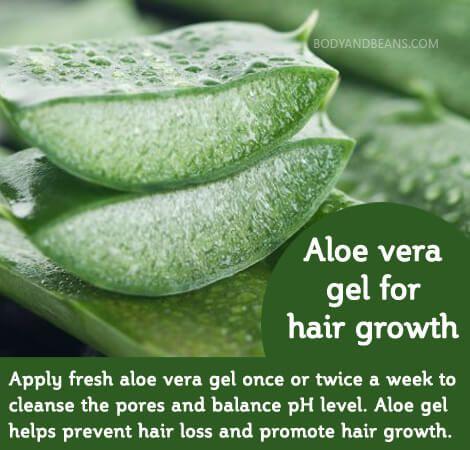 Ayurvedic remedy - Aloe vera gel for hair growth