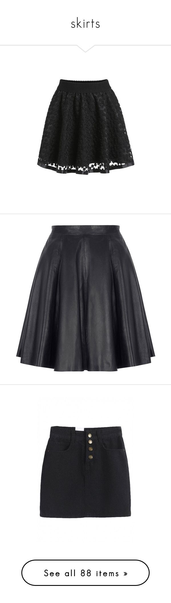 """""""skirts"""" by yumikochan ❤ liked on Polyvore featuring skirts, bottoms, black, short black skirt, short circle skirt, black skater skirt, skater skirt, lace skater skirt, high rise skirts and high-waisted skirts"""