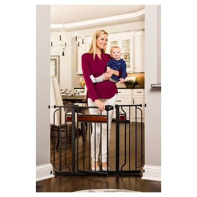 Regalo Home Accents Extra Wide Baby Gate, Almost Black