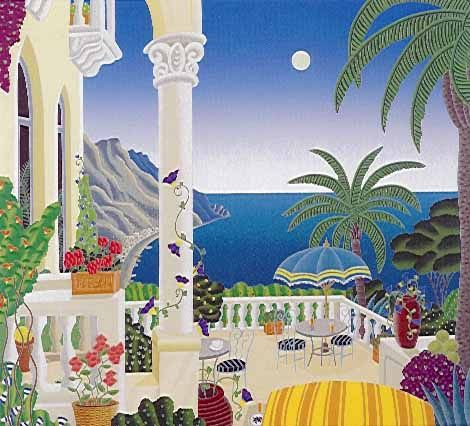 Thomas McKnight's Ravello Balcony Limited Edition Fine Art