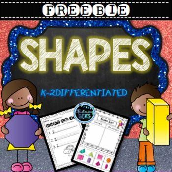 Freebie - Shape Print and GO Activities