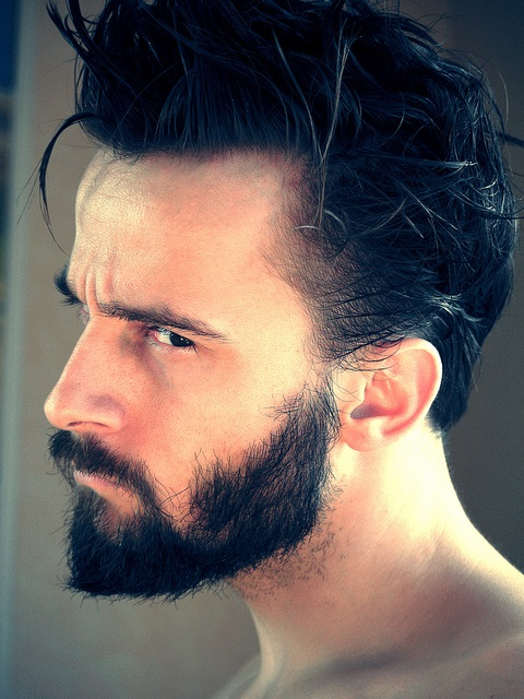 Sharp features and a very dark beard | Writing/Reading ...