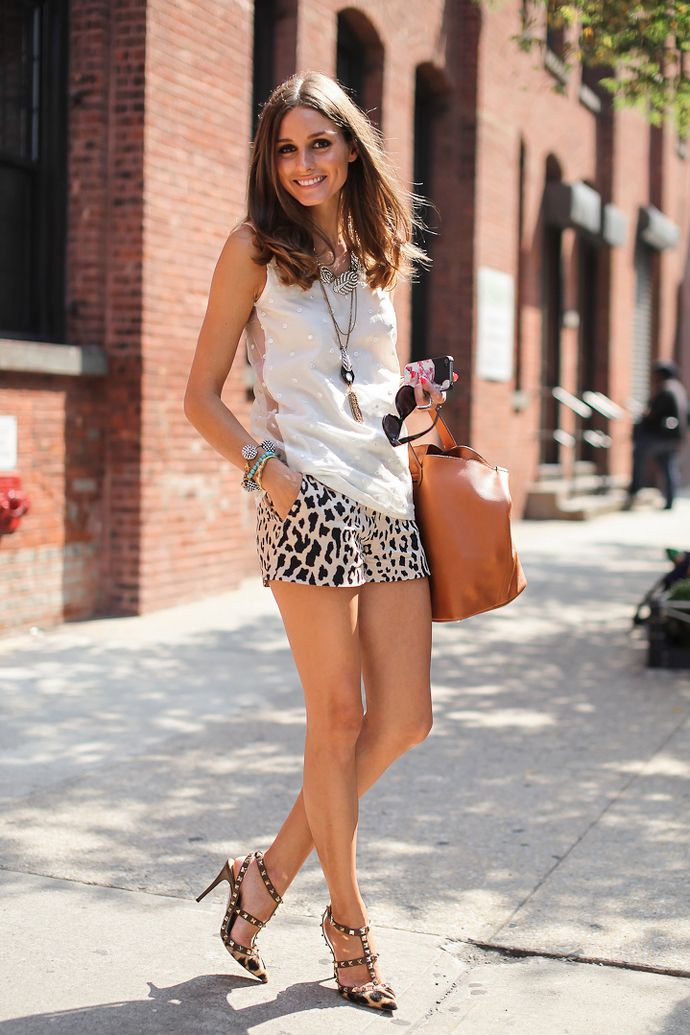 White Top & Jeopard Print Short from fashion-fever.nl