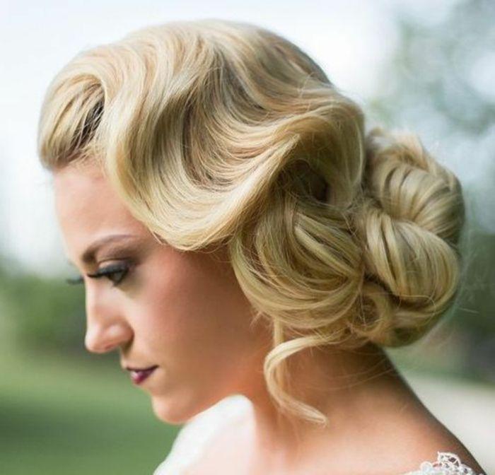 Vintage Frisuren Prachtvolle Hochsteckfrisur Mit Wasserwellen Braut Frisuren Vintage Frisuren Frisur Hochgesteckt Wasserwellen Frisur