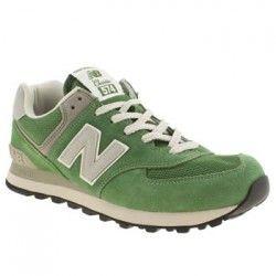 Precio baratas New Balance 574 verde blanco hombres zapatillas tienda outlet online