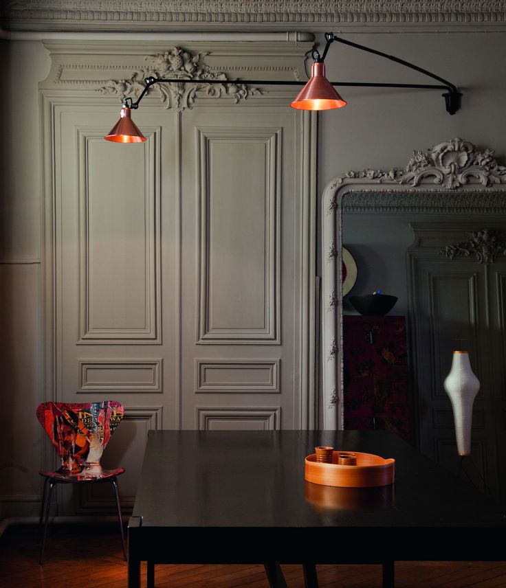 N°213 L Double wall light by Lampe Gras