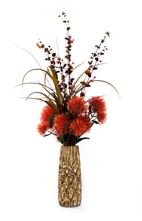 New Zealand Christmas flowers in a Fernwood Vase. www.fernwood.co.nz