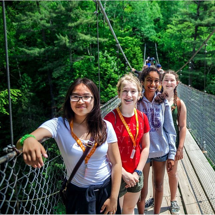 #DidYouKnow: At 74 meters high, the river drop at Canyon Sainte-Anne is nearly one-third taller than Niagara Falls. #GoDiscoverInspire  .  .  .  .  .  #brightsparkcanada #travel #explore #canada #explorecanada #quebec #waterfall #bridge #river #studenttravel #forest #beautiful