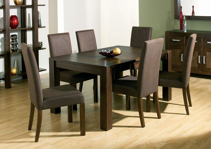 Gorgeous Dark Wood Dining Table Design With Magnificent Awesome Brown Arts Wooden Floor