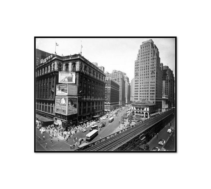 Herald Square, 34th and Broadway, Manhattan by Berenice Abbott Artblock