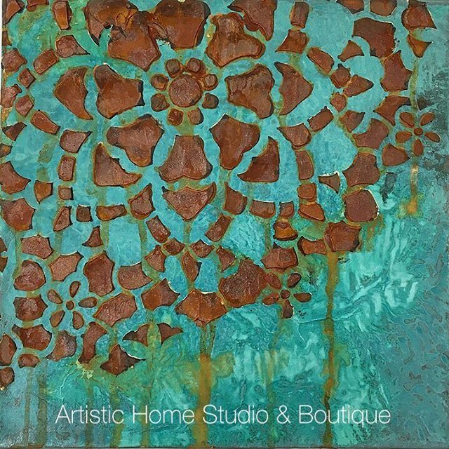 Patina & Rust workshop sample from Artistic Home Studio in Alameda, CA - gorgeous!