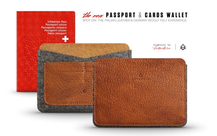 Passport Wallet - front & back view