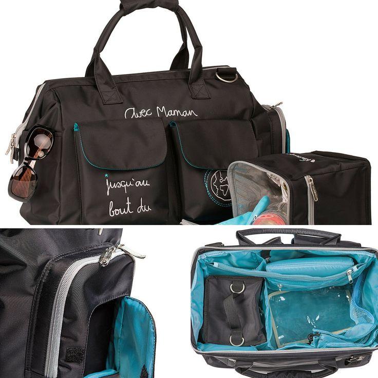 El Bolso Avec Maman es más que un bolso maternal. ¿Lo conoces? Trae el cambiador, compartimentos interiores, bolsa para la ropita sucia, clip para las llaves, una bolsa térmica y mucho más! #bolsomaternal #kiwisac